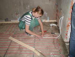 Монтаж электрического теплого пола в Таганроге. электрический теплый пол